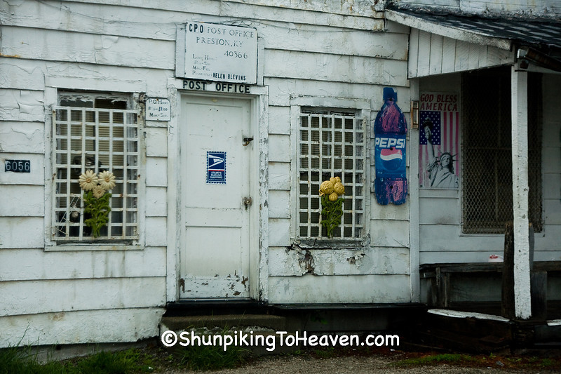 Post Office at Blevins Grocery, Preston, Kentucky
