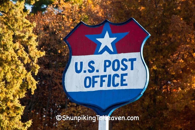 U.S. Post Office Sign, Conrath, Wisconsin