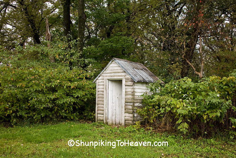 Outhouse at Jordan Town Hall, Filmore County, Minnesota