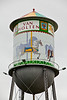 Vintage Water Tower with Carousel Mural, Waterloo, Wisconsin