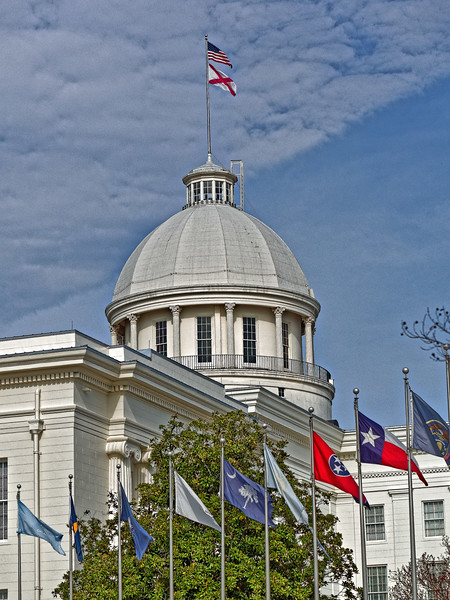 Avenue of Flags at Alabama State Capitol