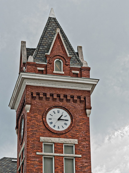 Clock Tower of Old Bradford County Courthouse