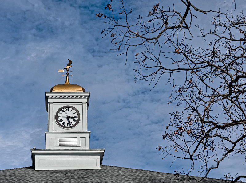 Clock Tower and Weathervane atop Marion County Courthouse