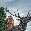 Brevard North Carolina Deer Sculpture