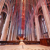 """""""Ms. Patterson, the designer, envisioned a series of light pathways, connecting heaven and earth, manifest as ribbons. The ribbons carry our prayers, dreams and wishes skyward, and, in turn, grace streams down the ribbons to us."""" - gracecathedral.org"""