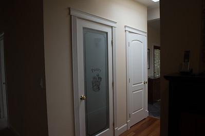 Pantry closet, storage closet, front door