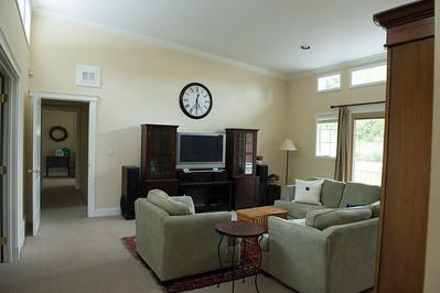 family room, guest bedroom hallway