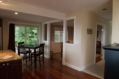 Kitchen view of dining room