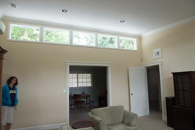 family room,  double doors to office, single door to guest bedroom hallway