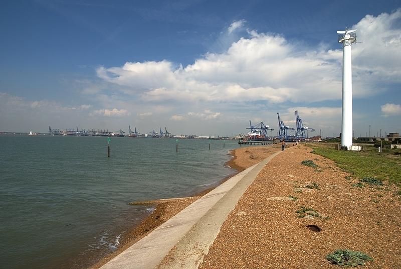 Port in Felixstowe