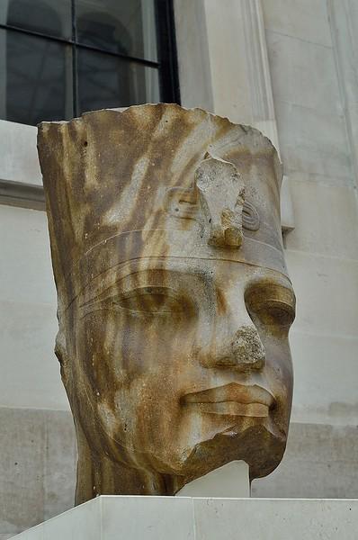 Quartzite Head of the Egyptian Pharaoh Amenhotep III, British Museum, London