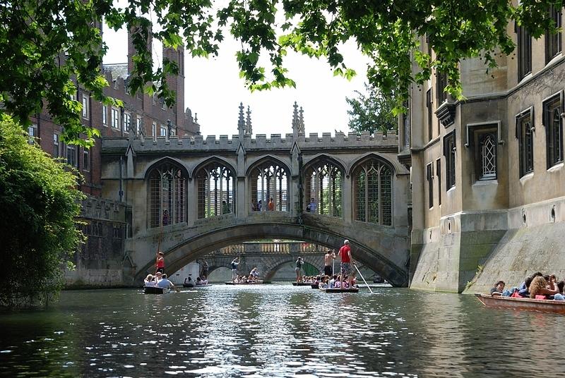 Bridge of Sighs in summer, Cambridge
