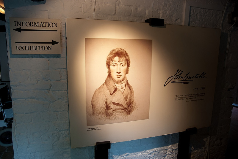 Exhibition in John Constable house, area of Suffolk