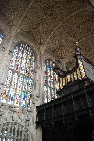 Interior of the Kings's College Chapel, Cambridge