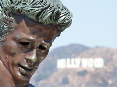 James Dean statue @ Griffith Park Observatory
