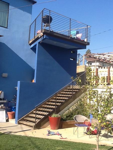 Modern railing - Huey residence