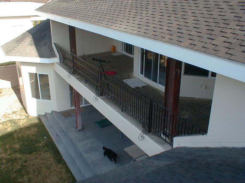 Exterior rear rail - Latanzio Residence, Woodland Hills, CA