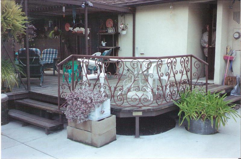 Patio rail - Belisle residence, Pasadena, CA