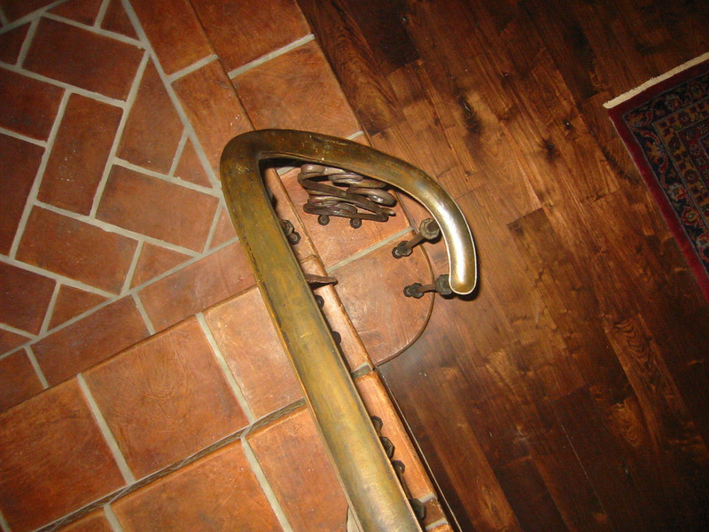 Rear stair rail volute - Yateneyez residence, Los Angeles, CA