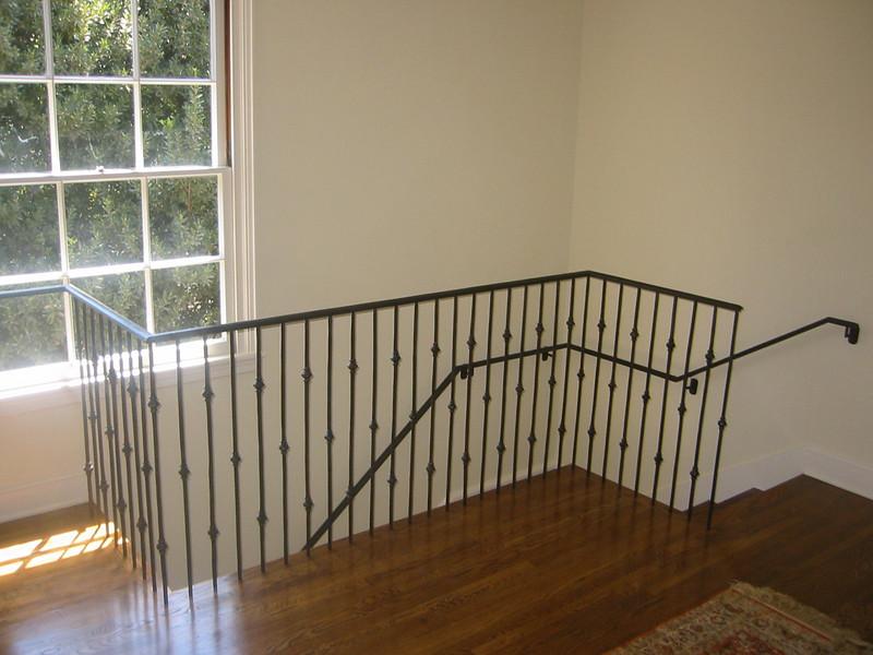 Second floor rear stair rail - Levy residence, Pasadena, CA