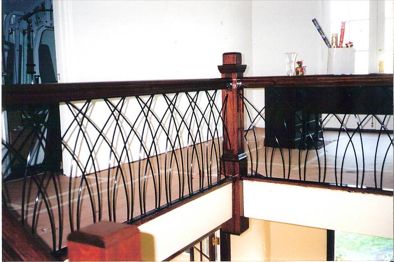Second Floor decorative stair rail -Sniesko residence, Pasadena, CA