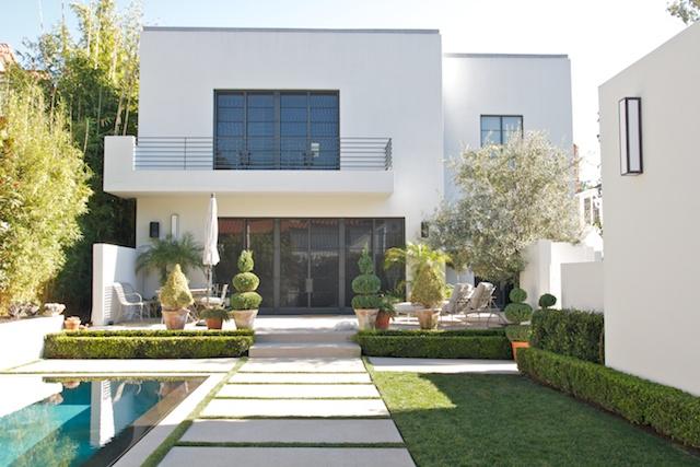 Exterior rail - Yelin residence, Westwood, CA
