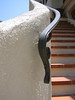 Exterior rail lambs tongue - Miller residence, San Marino, CA