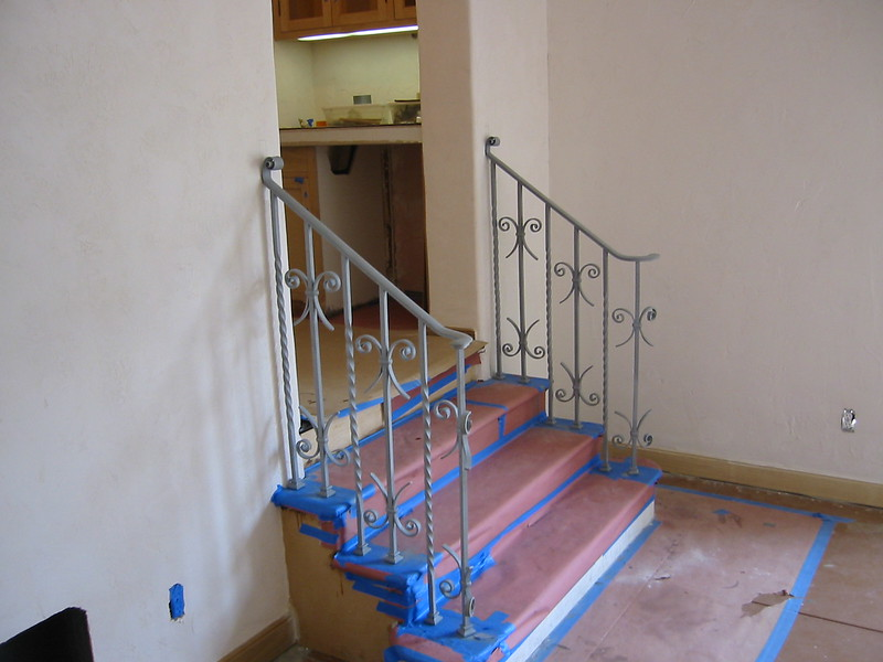 Stair rail addition to match existing (circa 1920's) rail - Shakure residence, San Marino, CA