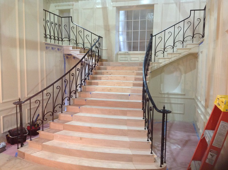 """Stair rail for the set of Joan Crawford's """"Fued"""" (recreation of """"Whatever Happened to Baby Jane"""" set)"""