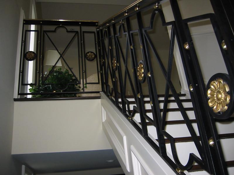 Entry stair rail detail  - Palos Verdes, CA