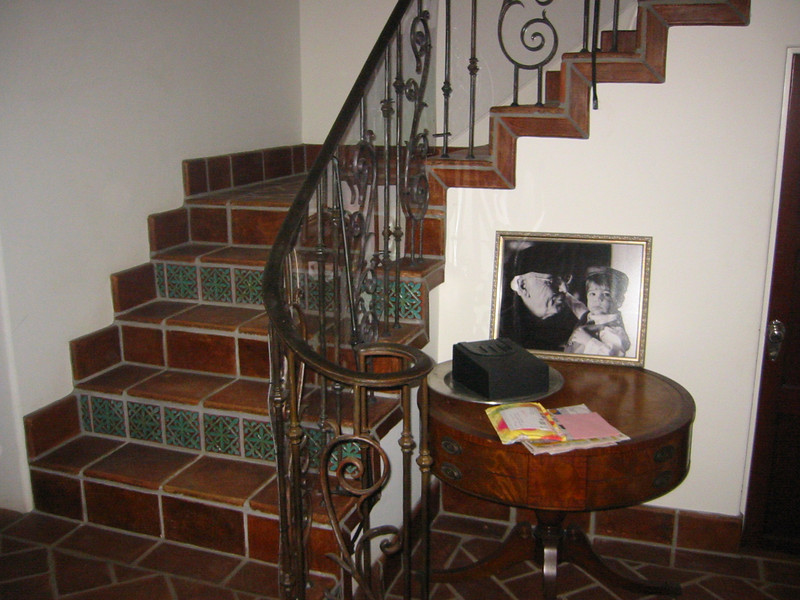 Stair rail close-up - Yateneyez residence, Los Angeles, CA