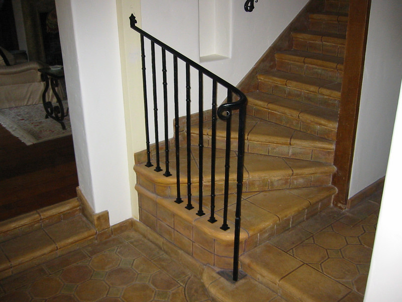 Recreation of original (1930's) iron work to match existing stair rail - La Canada, CA