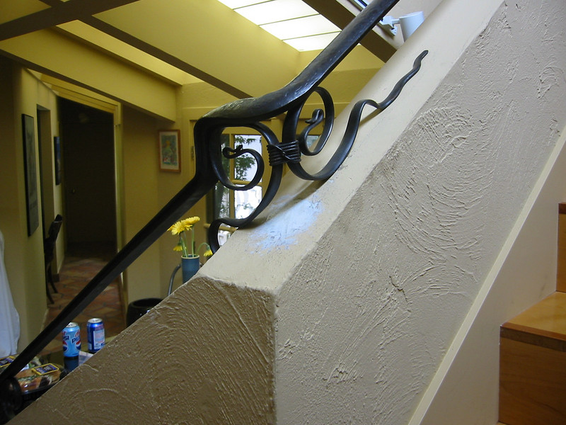 Stair rail detail - Thayler residence, Pacific Palisades, CA