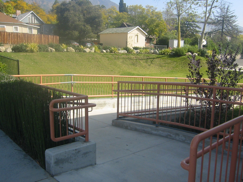 Handicap ramp rail - Sierra Madre Congregation Church, Sierra Madre, CA