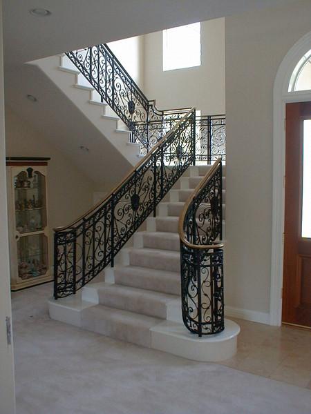 Ornate stair rail - Latanzio Residence, Woodland Hills, CA