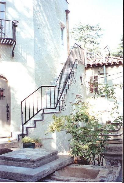 Carriage house stairway - La Canada, CA