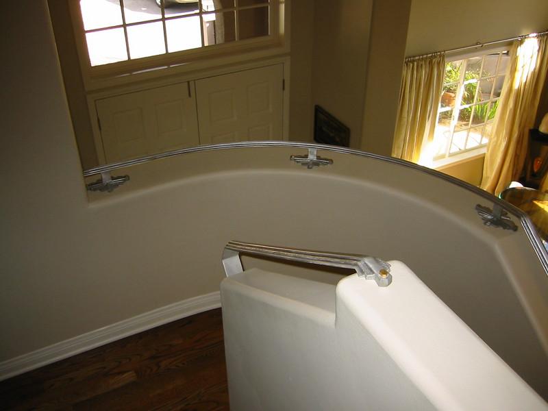 Art deco stair rail- Janna's residence, La Canada, CA