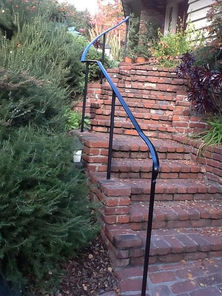 Exterior stair rail - Stafford residence, Sierra Madre, CA