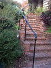 Exterior stair rail - Stafford residence, Sierra Madre, CA
