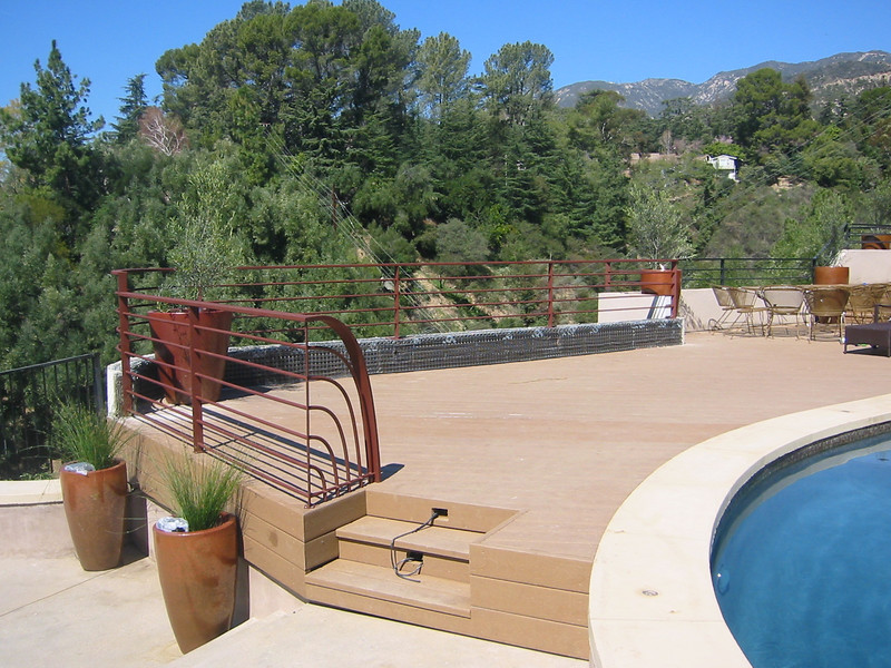 Recreation of existing rail pattern and addition of custom end - Jannas residence, La Canada, CA