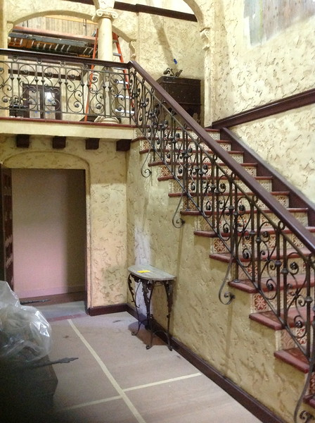 """Stair rail in Baby Jane's mansion for the set of """"Fued"""""""