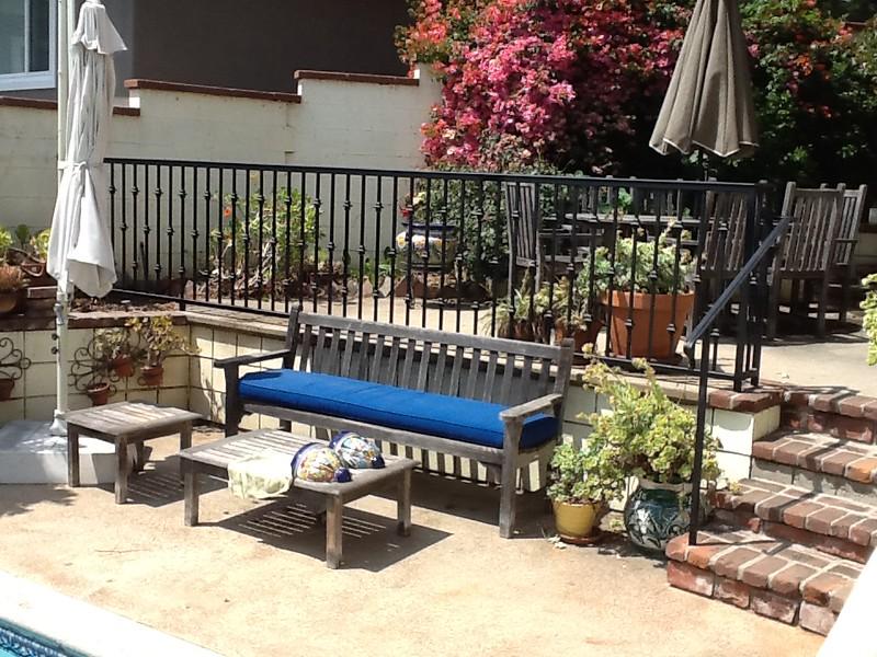 Exterior safety rail - Griggs residence, Altadena, CA