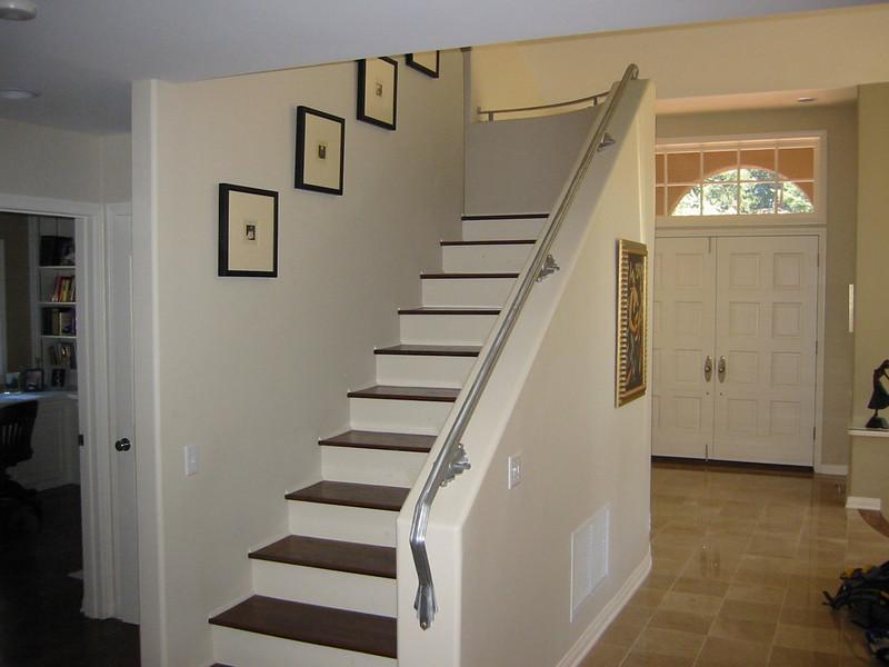 Art deco stair rail - Janna's residence, La Canada, CA