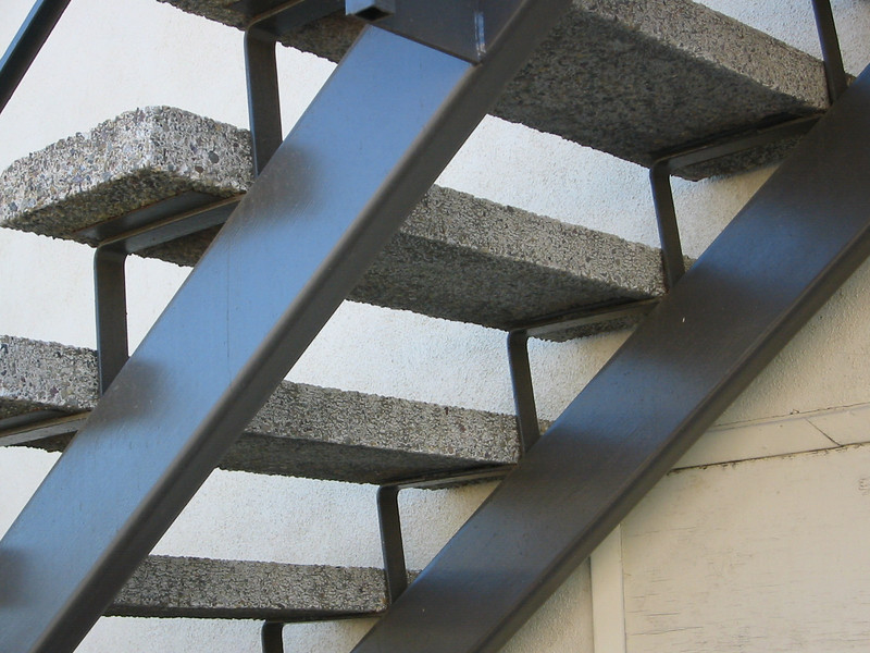 Exterior stair case detail - Nina St.
