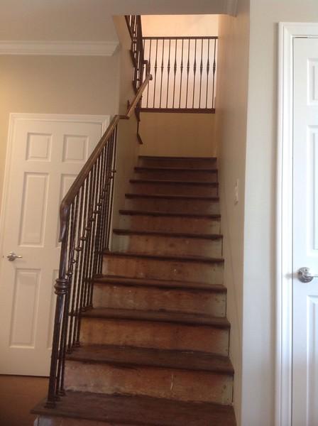 Basement stair rail - Palos Verdes