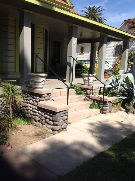 Stair rails - Dupuy residence, Altadena, CA