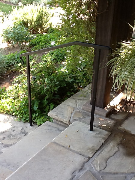 Front exterior stair rail - Muerer residence, La Canada, CA