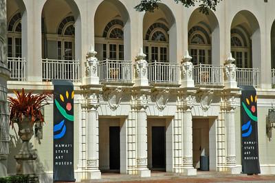 Hawai'i State Art MuseumSpanish Mission Revival-style with Italian scrollwork, 1928Honolulu, Hawai'i