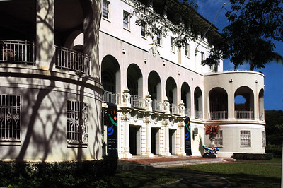 Hawai'i State Art Museum Spanish Mission Revival-style with Italian scrollwork built in 1928Honolulu, Hawai'i