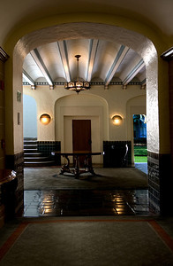 Hawai'i State Art MuseumSpanish Mission Revival, 1928Lobby from a hallwayHonolulu, Hawai'i